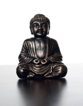 budha sculpture made of metal, for meditation and religious concepts Stock Photo - 18081729