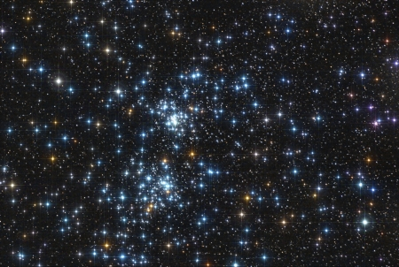 the famous stars double cluster in the constellation of perseus