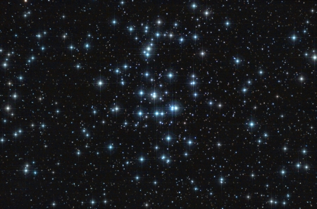 Real astronomic picture taken using telescope, it is an open stars cluster known as praesepe, in cancer constellation Stock Photo - 21935056