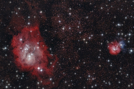 astroimage: Real astronomic picture taken using telescope of a region inside of Sagittarius constellation