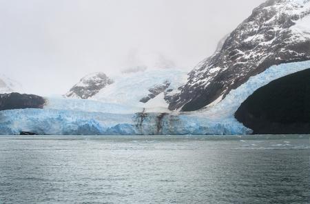 icescape: argentinian glacier located in glacier national park, in tierra del fuego Stock Photo