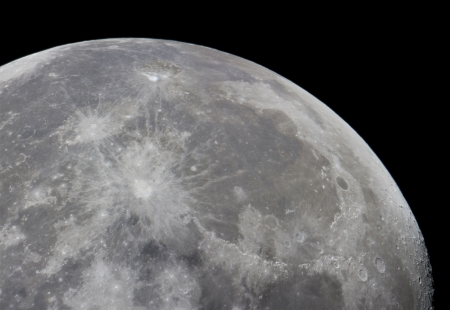 moonscape: great moonscape taken with a big telescope; it is a real picture and is the result of forming a mosaic with different images