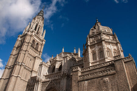 outoors: view of primate cathedral of saint mary of toledo, spain Stock Photo