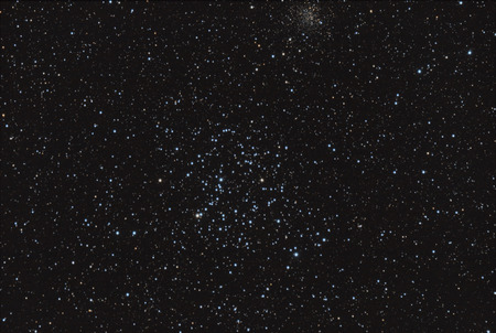astronomic: Real astronomic picture taken using telescope, it is an open star cluster known as Messier 35, in Gemini constellation