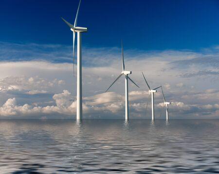 ein Windpark im Meer