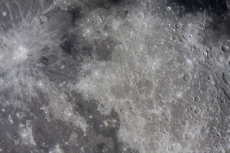 copernicus: real astronomical picture in wich can be seen copernicus crater on the left side, it is a very detailed view of the moon surface