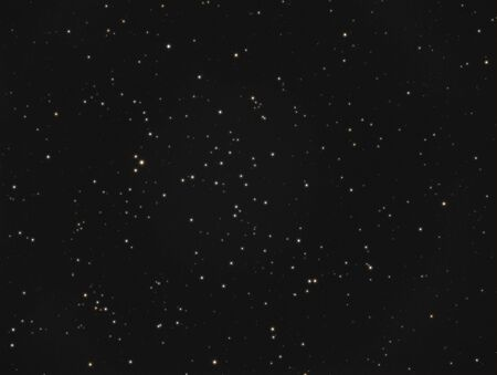 Real astronomic picture taken using telescope, it is an open stars cluster located in the constellation andromeda, and is known as ngc 752 or caldwell 28