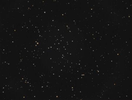 Real astronomische foto genomen met behulp van telescoop, het is een open sterren cluster groeide gelegen in het sterrenbeeld Andromeda, en staat bekend als NGC 752 of caldwell 28