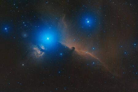 astronomic: real astronomic picture taken using telescope of horsehead nebula