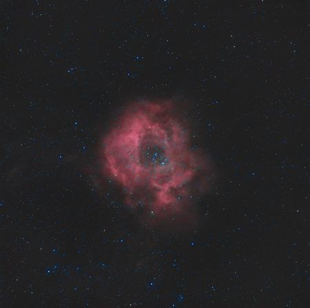 astroimage: A circular hydrogen cloud in the monoceros region of the milky way galaxy.