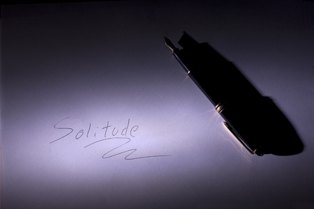 a message written down with traditional pen Stock Photo