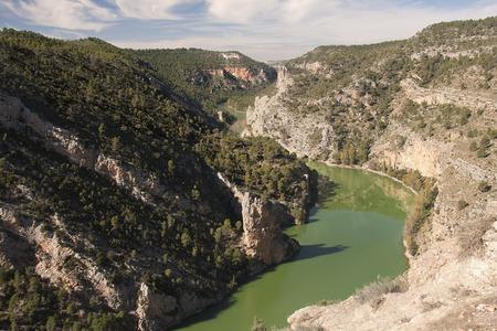Jucar river canyon in Albacete province, close to casas de ves in Spain