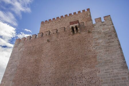 history building: castle of ciudad rodrigo in salamanca, spain