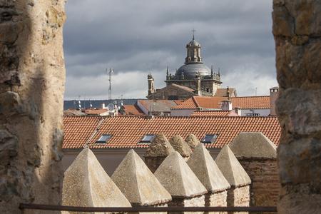 cerralbo capille seen from the castle, in ciudad rodrigo, spain
