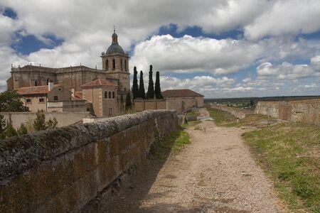 over the protective walls of ciudad rodrigo, in spain
