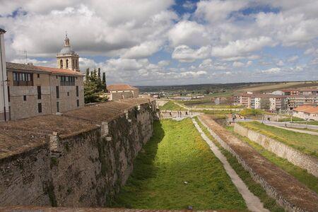 defensive walls of medieval city of ciudad rodrigo, in spain