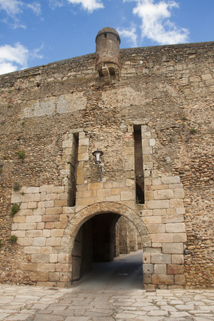 fortify: one of the gates of the medieval city of ciudad rodrigo, in spain