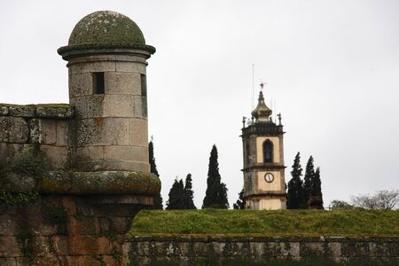 almeida is a medieval town of portugal, in the border with spain, that used to protect it against ciudad rodrigo Stock Photo