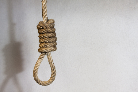 a conceptual picture about depression or execution