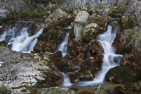 Small waterfalls in a river