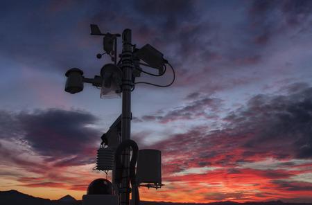 a weather station taking measures of pressure, temperature, etc Standard-Bild