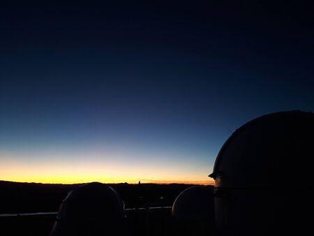 twilight falling on an astronomic center