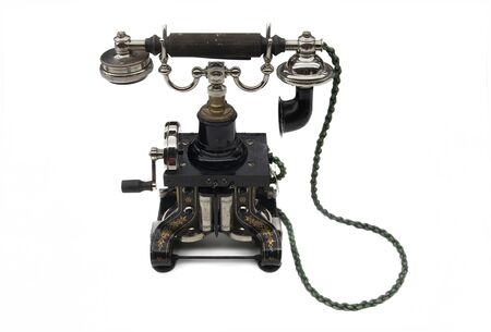 One of the first models of telephone, a technological revolution Standard-Bild