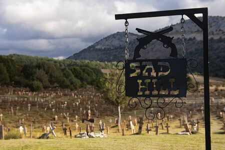 sign of sad hill in burgos, spain, location of the film the good the bad and the ugly Standard-Bild