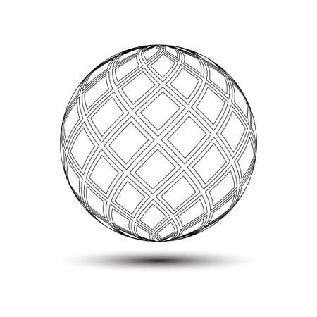 symmetrical ball circle illustration,great for design materials, elements, symbols, icons