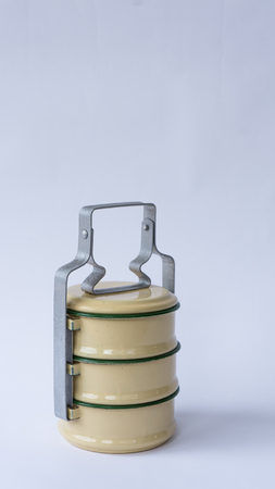 meterial: Tiff-in Antique or Food carrier of Thailand. Stock Photo