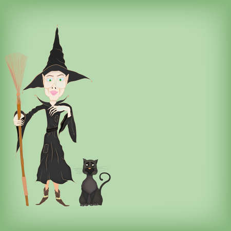 the witch with the black cat