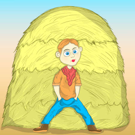 the guy at the haystack