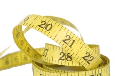 measure tape on white