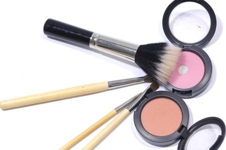 new makeup set isolated on white photo