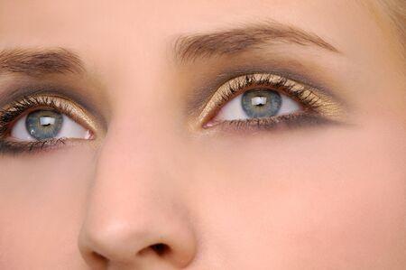 Close-up of beautiful young woman face Stock Photo