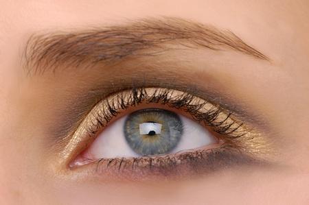 macro beautiful female eye photo