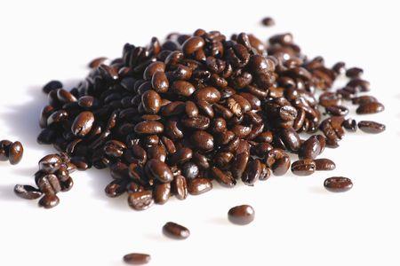 fairtrade: Pile of fair-trade coffee beans Stock Photo