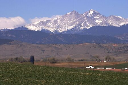 longs peak: Field with Longs Peak in background