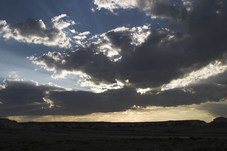 pawnee grassland: Dramatic skies over Pawnee National Grassland Stock Photo