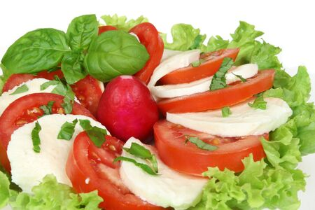 caprese: Caprese - Italian salad with tomatos and mozarella cheese