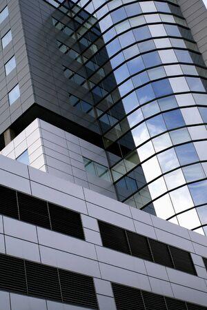 Super modern skyscraper building abstract. High rise architecture. Zdjęcie Seryjne