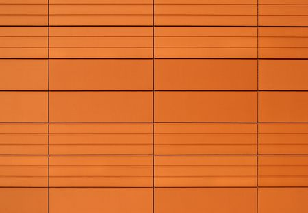 Terracotta tile texture. Abstract background. Orange color and lines. photo