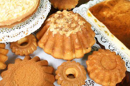 Pascua caseras tortas y repostería - deliciosa comida polaca  Foto de archivo - 2785451