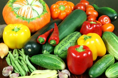 Full variety of vegetables on the table Stock Photo - 3566700