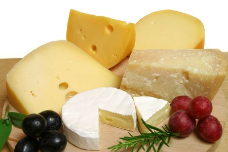 cheeses: Variety of cheese: camembert and other hard cheeses