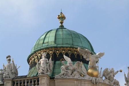 hofburg: Hofburg palace dome. Landmark in Vienna, Austria.