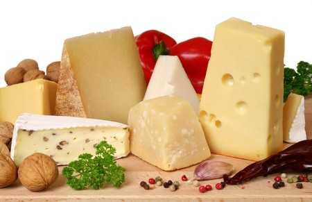 camembert: Variety of cheese: camembert, gouda, brie with nuts, parmesan, goat, sheep and other hard cheeses