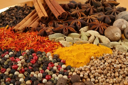 aniseed: Spices - pepper, aniseed, cinnamon, cardamon and other ingredients