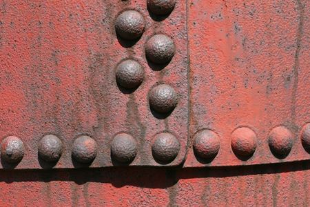 Industrial texture - steel tin surface with rivets. Metallic background. Stock Photo - 4944661