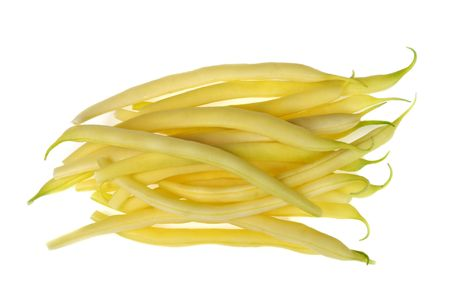French beans isolated against white background. Food. photo